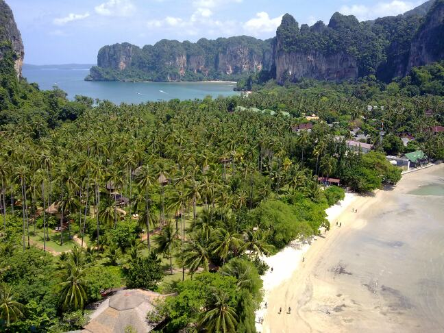 Railay Beach bij Aonang en Krabi